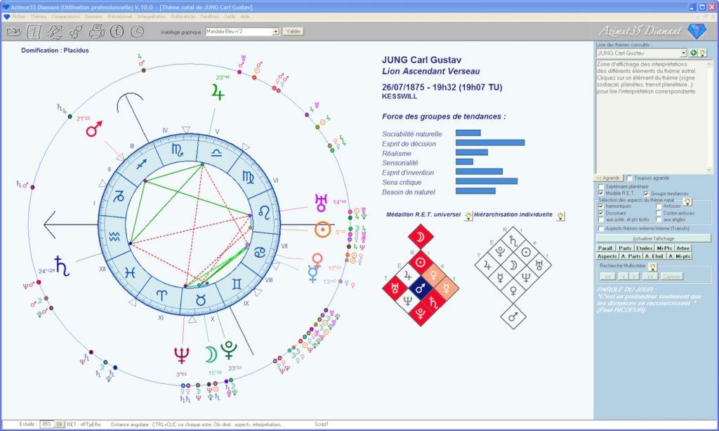 Logiciel d'astrologie Azimut35